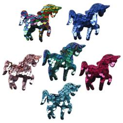 10pcs lot sequins unicorn iron on patches