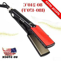 2 IN 1 Pro Hair Straightener Hair Salon Steam Flat Iron Stra