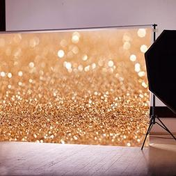 FIRSTLIKE 3-5 Days Delivery 7x5ft Gold Backdrop Glitter Abst