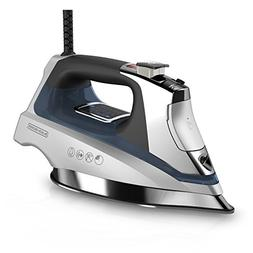 BLACK+DECKER Allure Digital Steam Iron, Silver/Blue, D3040