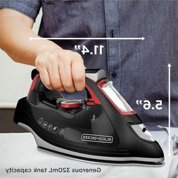 Advanced Steam Iron, Durable, Stainless Steel, High Steam Ra
