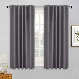 RYB HOME Grey Blackout Curtains Thermal Insulated Noise Redu
