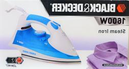black and decker 1600w steam iron white blue self cleaning 2