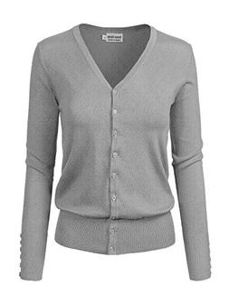 Instar Mode Classic Button Down Long Sleeve V-Neck Soft Knit