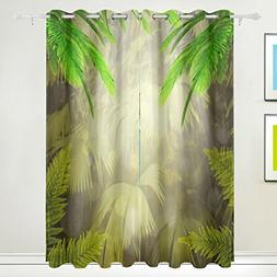 ALIREA Early Morning The Tropical Forest Blackout Curtains D