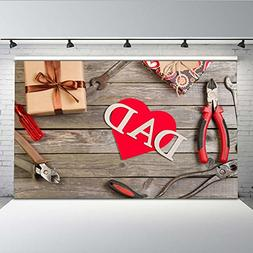 Mehofoto Fathers Day Photo Backdrop Gifts Red Loving Heart f