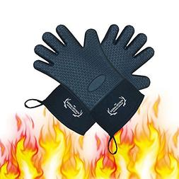 Heat Resistant Silicone Grill Gloves Oven Mitts and Potholde