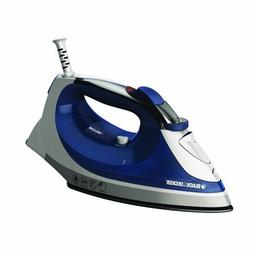 BLACK+DECKER IR08X Corded Xpress Steam Iron, White/Purple by