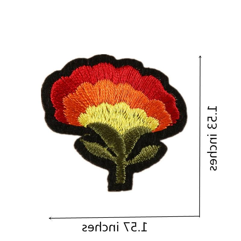 10PCS Flower Patches Applique Embroidered for Accessories