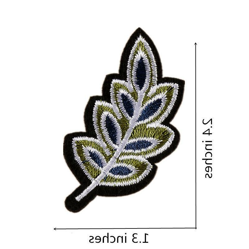 10PCS Flower Patches Embroidered Iron on for