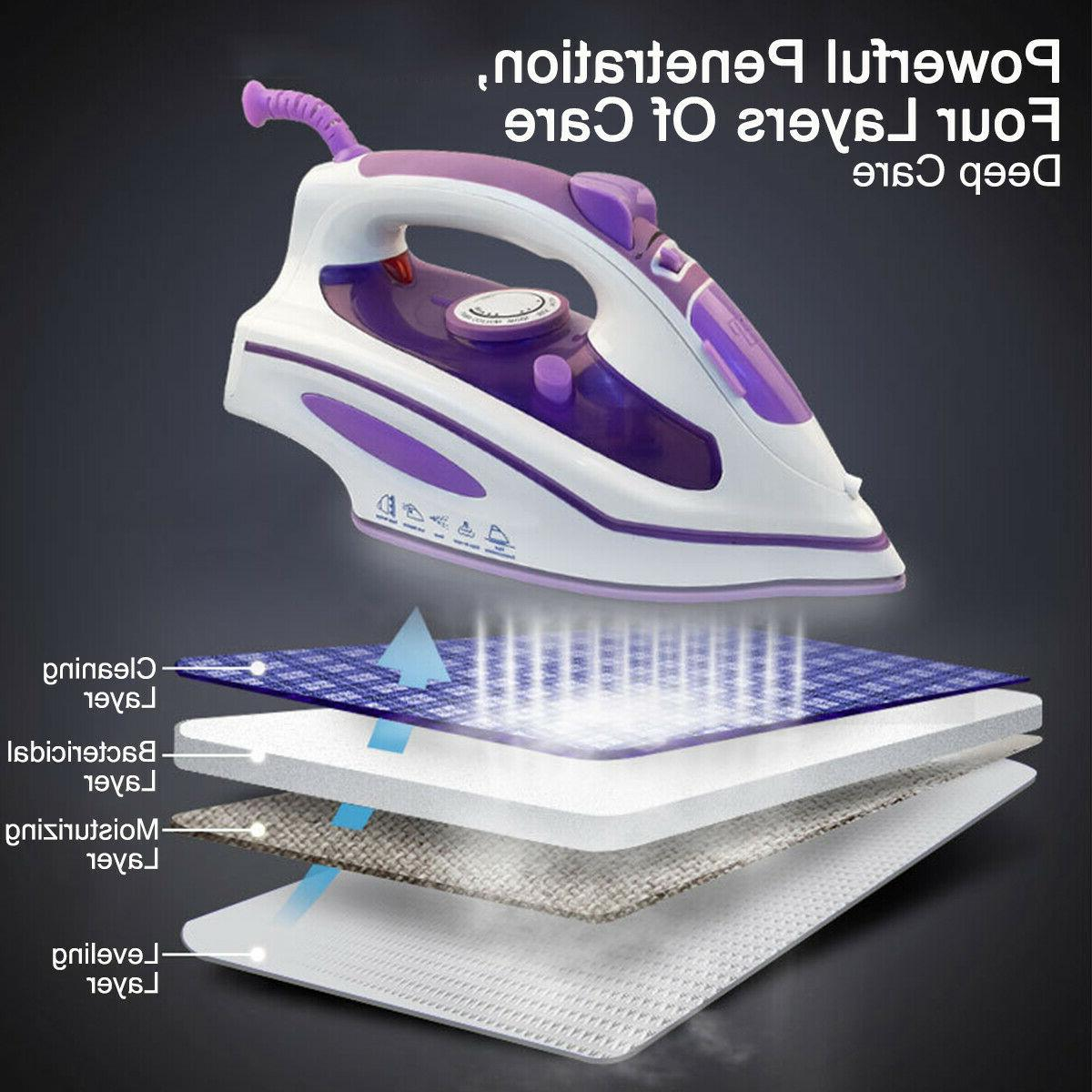 1200W Steam Iron Portable Steamer Clothes Handheld Fabric Laundry Home