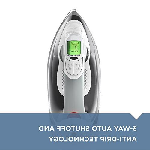 BLACK+DECKER Digital Professional Steam Iron, LCD Gray, D2030
