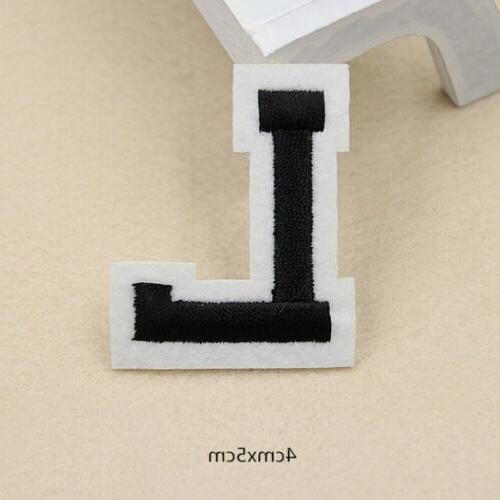 Black Bag Embroidered Clothing Letter A-Z