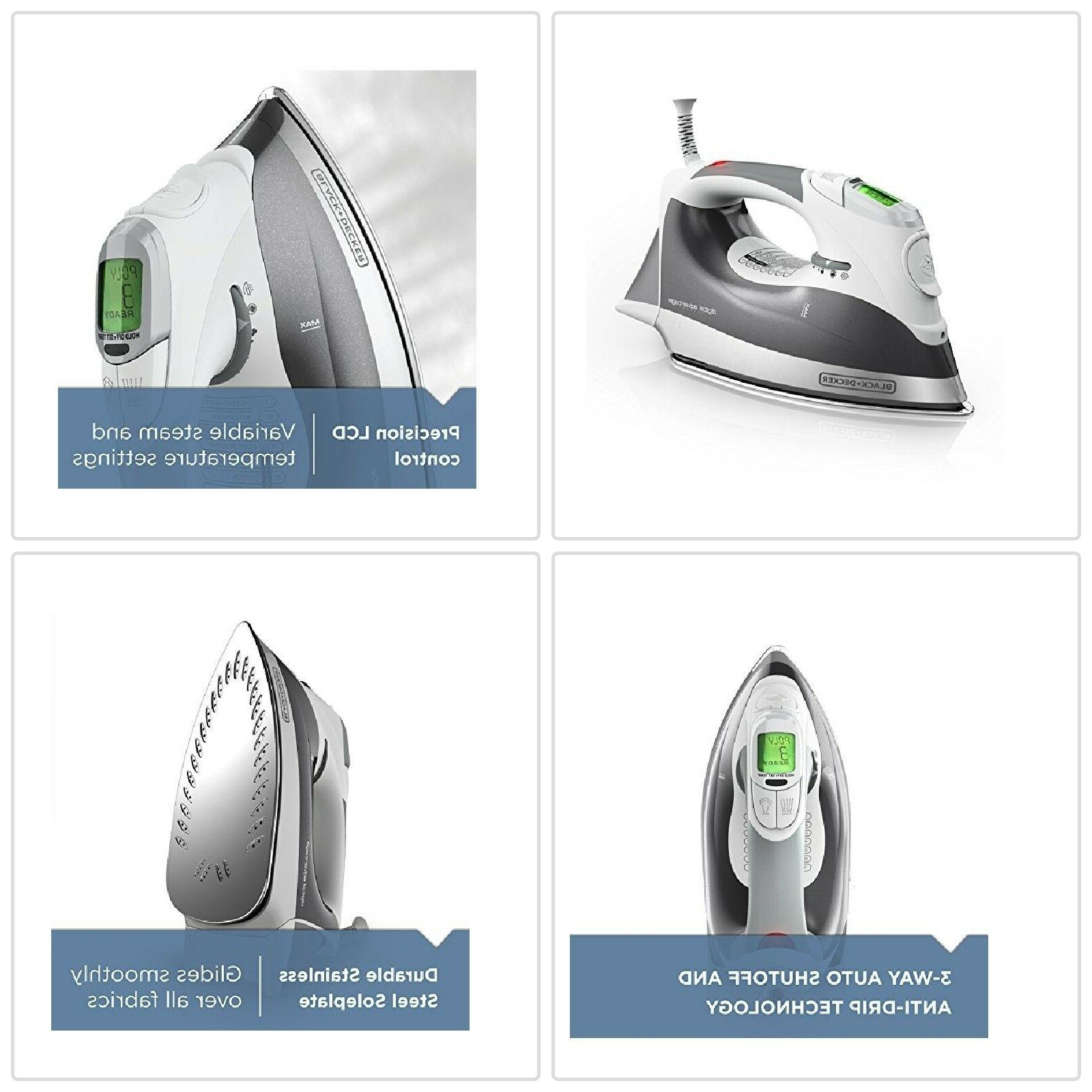 BLACK+DECKER Professional Quality Steam Iron With LCD Screen