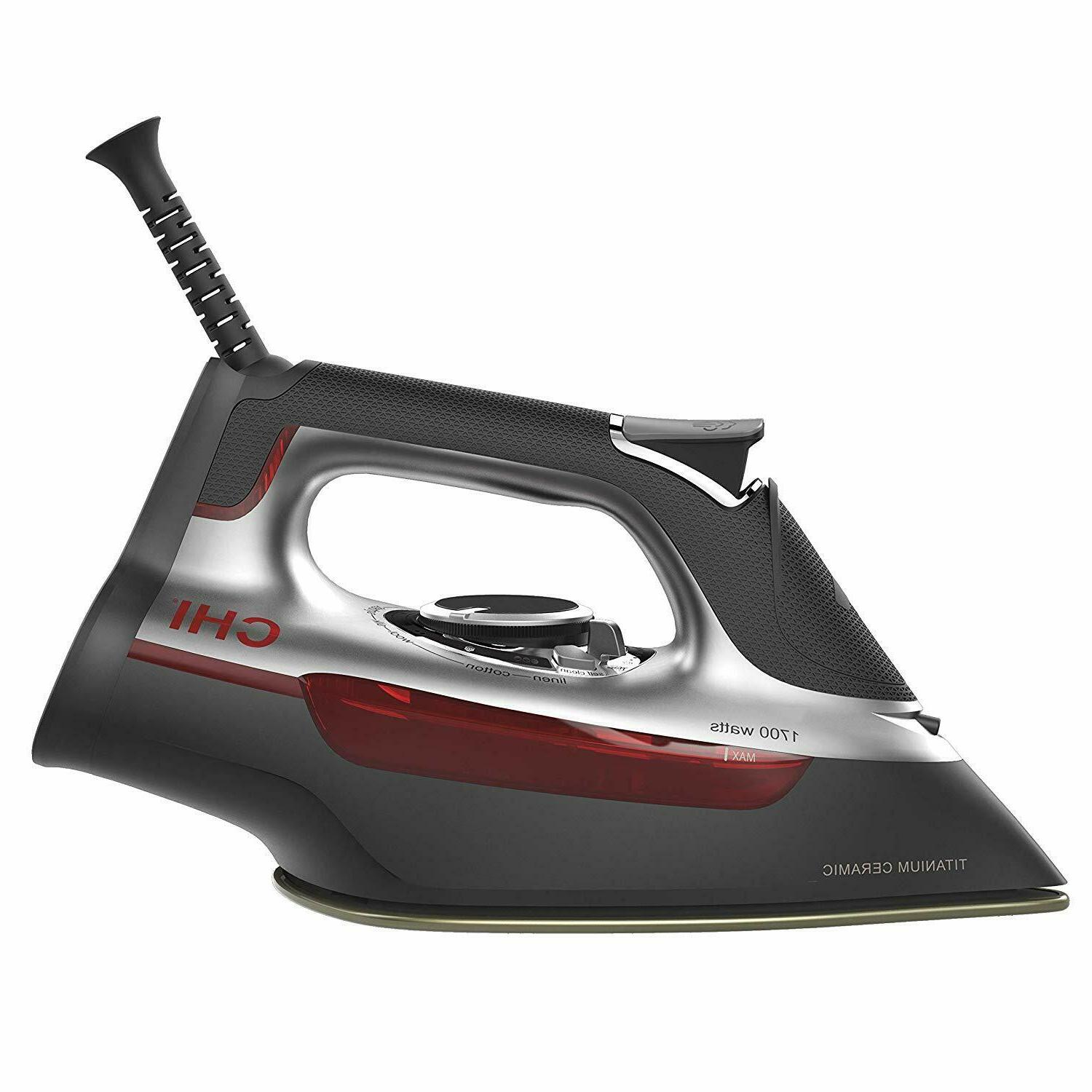 CHI  Steam Iron With Titanium Infused Ceramic Soleplate  Ove