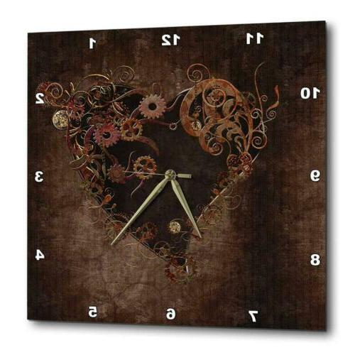 3dRose Steam Punk Heart-Wall Clock, 13 by...