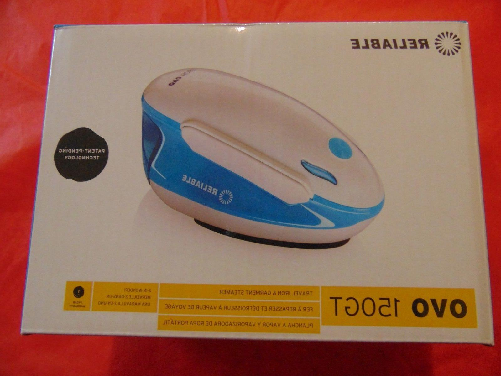 NEVER OPENED!  Reliable Ovo 150GT PORTABLE Steam Iron/Garmen