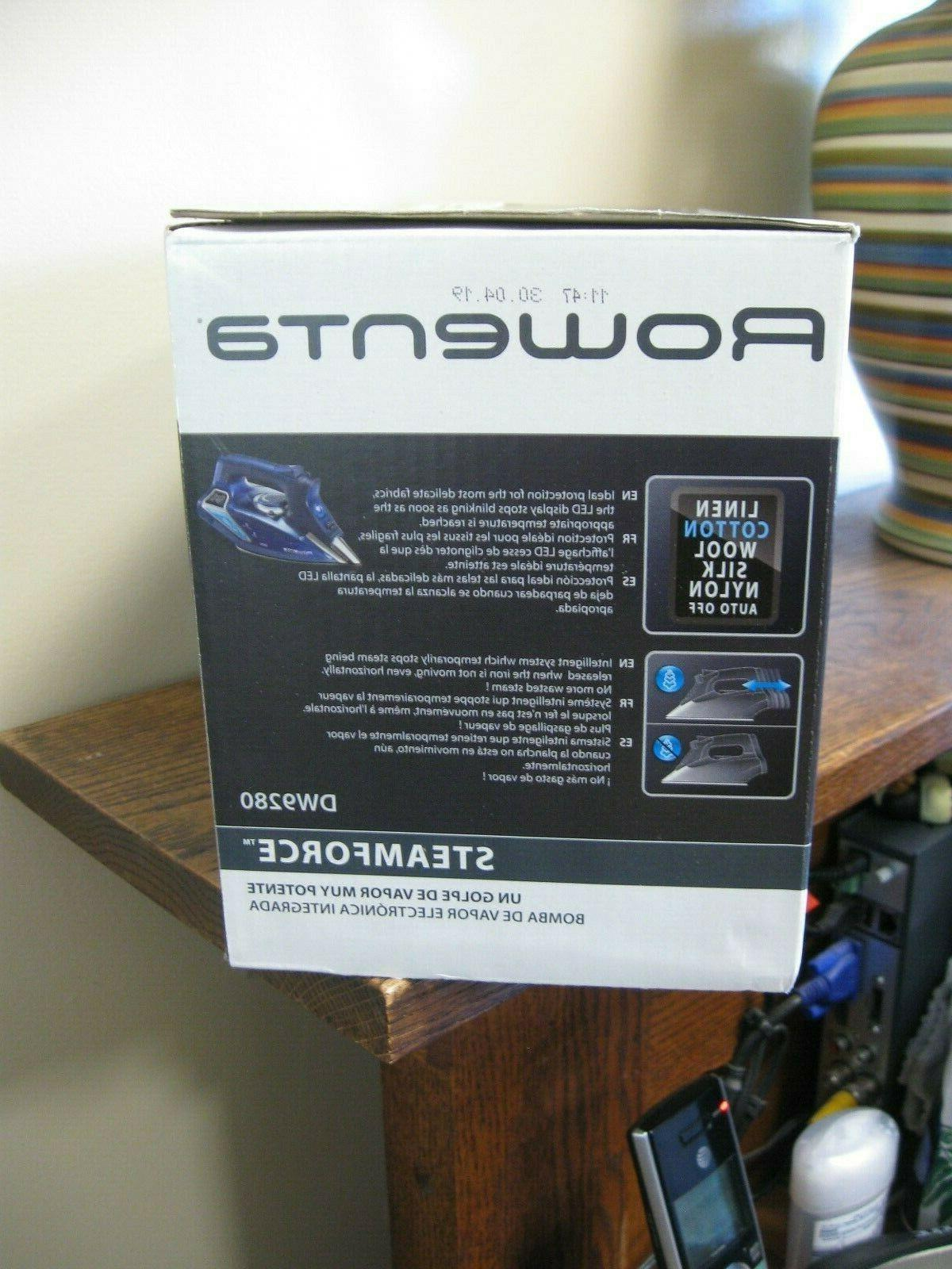 New! Rowenta Steamforce Iron with Off DW9280