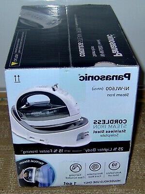 PANASONIC CORDLESS IRON STEEL SOLE PLATE WHITE