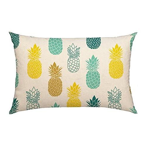 pineapples throw pillow cover summer