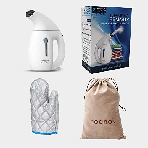 Zonpor Clothes Steamer for Clothes Size, Fast Heat and Powerful Garment Safe Fabric