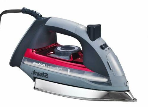 premium stainless steel steam iron red
