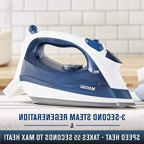 Maytag Iron Steamer with Stainless Sole Plate, + Blue