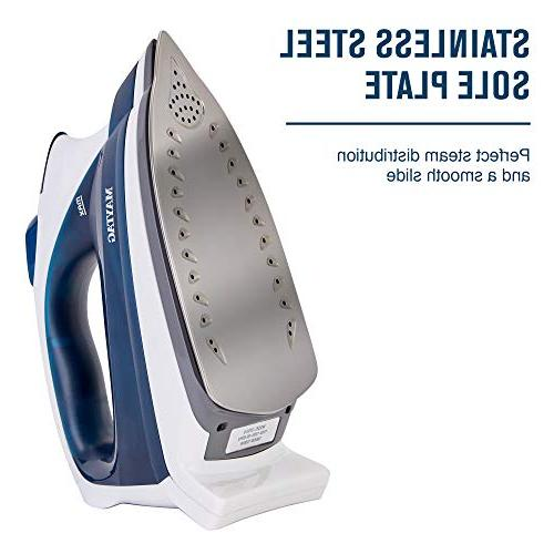 Maytag Speed Heat Steam Iron with Plate, + Thermostat M200 Blue
