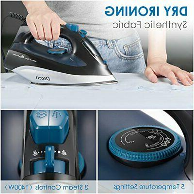 Steam Iron, DECEN Irons Clothes with Variable Temperature,
