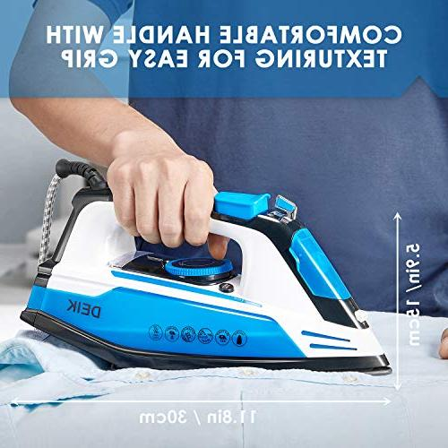 Deik 1200W Multi-Function Steam Soleplate, Self-Cleaning Steam, System, Temperature and Blue/Black