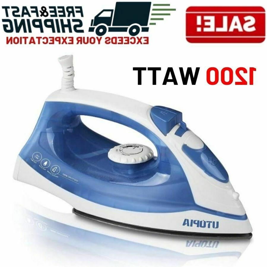 steam iron clothes electric press garment travel