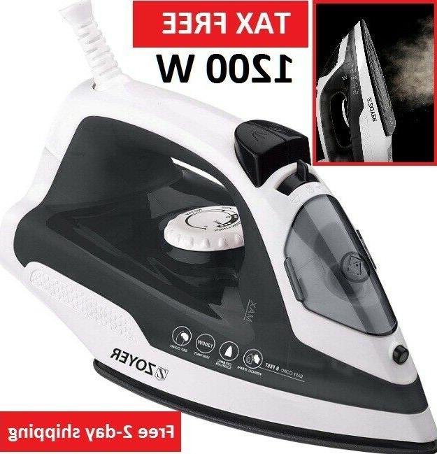 steam iron clothes travel electric press garments