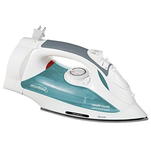 Sunbeam Steam Master Iron with Retractable Cord, White & Gre