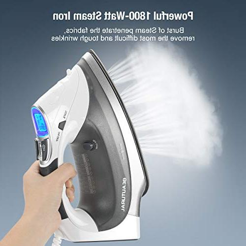 Beautural 1800-Watt with Double Coated 3-Way 100% 9 Preset Temperature and Steam Fabric