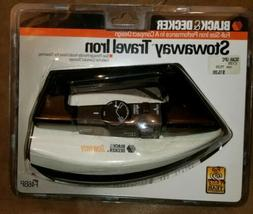 New Black & Decker Stowaway Travel Iron Compact Folding Desi