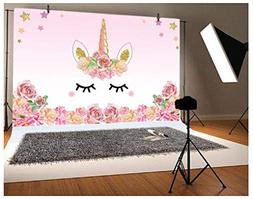 Laeacco 5x3ft Photography Background Unicorn Birthday Party