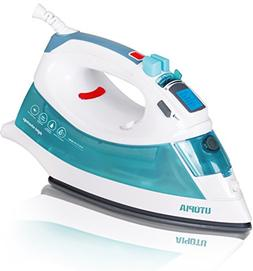 Utopia Home Digital Steam Iron with Nonstick Soleplate - Lig