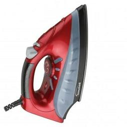 Brentwood Steam Non-Stick Dry Spray Clothes Iron Red Variabl