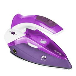 ZZ TI962-P Dual Voltage Travel Steam Iron with Stainless Ste