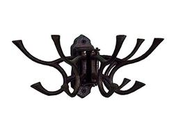 CTW 520010 Decorative Cast Iron Hinged Wall Mount Hook, Hang