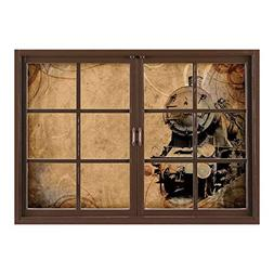 SCOCICI Wall Mural, Removable Sticker, Home Décor/Steam Eng