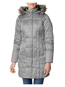 Eddie Bauer Women's Lodge Down Parka, Silver Regular M Regul