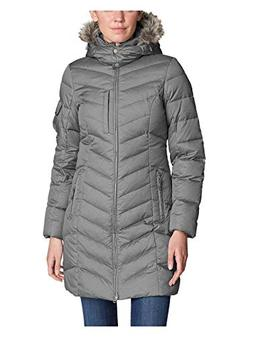 Eddie Bauer Women's Sun Valley Down Parka, Cinder Regular L